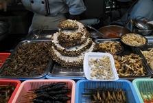 hmyz, který připravují místní pro turisty