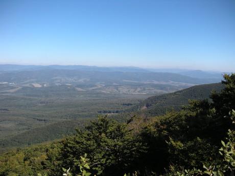 pohled na Bukovské vrchy