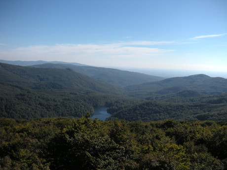 the view of Sninsky Kamen over Morske oko
