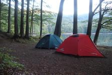 a camp at Morske Oko