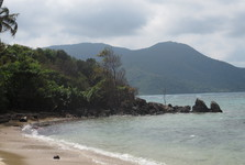 a beach on the east of Karimun