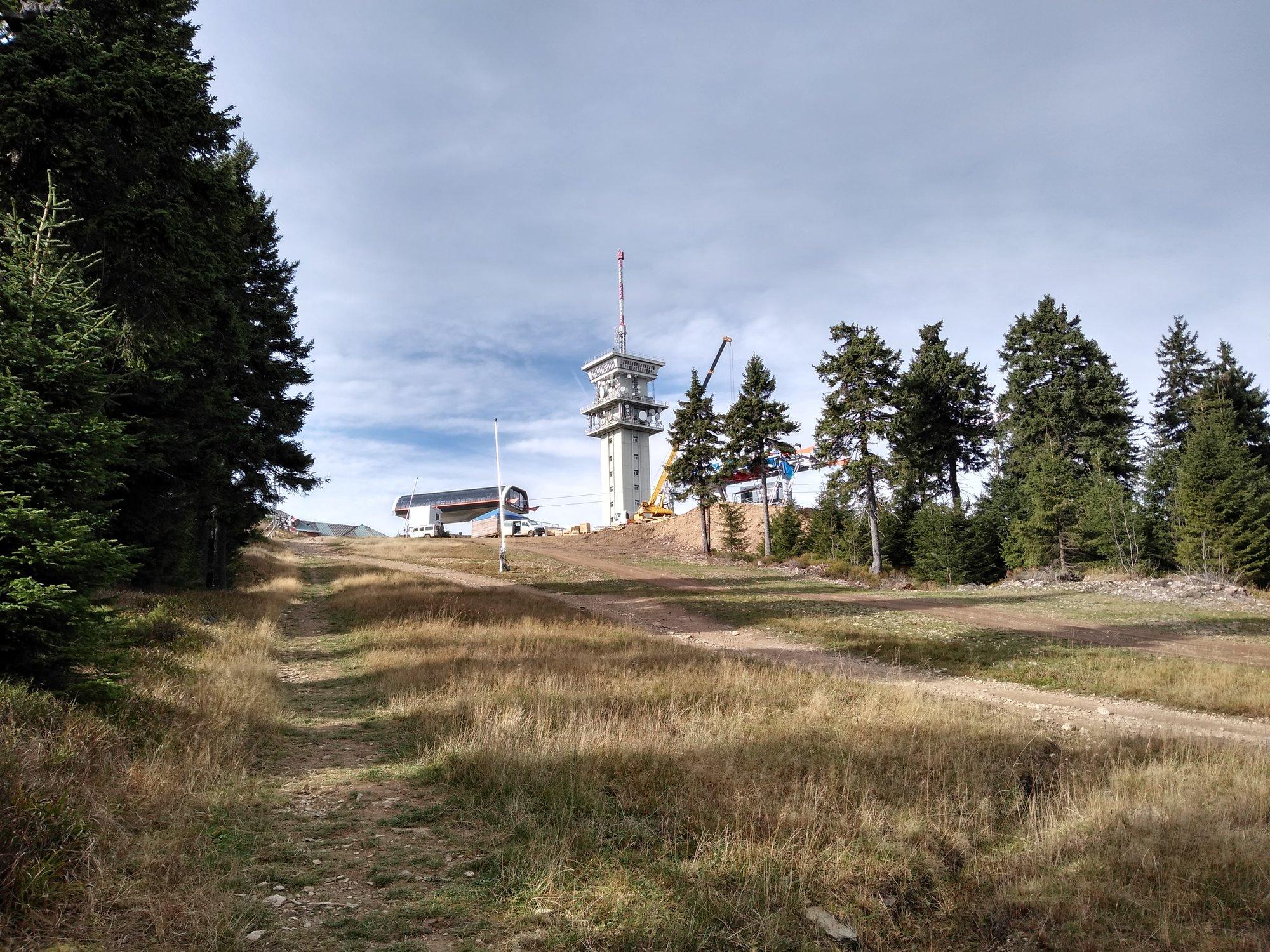 по пути на вершину Клиновца