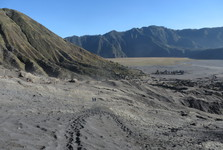 the view of the moonscape from atop of Bromo