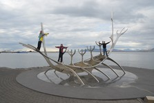 a huge replica of the Viking ship Sun Voyager