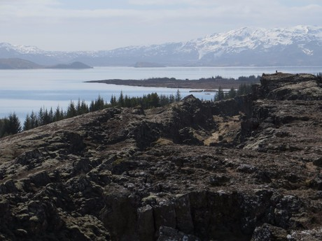 krajina v okolí NP Þingvellir