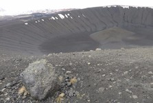 the Hverfjall volcano crater