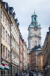 "narrow streets and historical sights in ""Gamla Stan"" or the Old Tow"