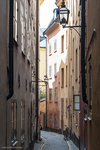 "narrow streets and historical sights in ""Gamla Stan"" or the Old Town"