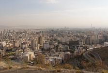 výhled na Teherán