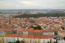 Prague – the Zizkov Tower (panorama)
