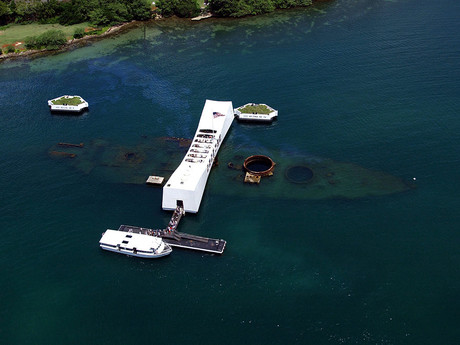 the USS Arizona memorial