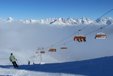 unfortunately, the state-of-the art chair lifts are often veiled into fog