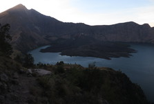 the view of Rinjani's summit (left) and the crater
