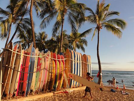 slávna pláž Waikiki