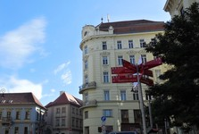 buildings along Husova street