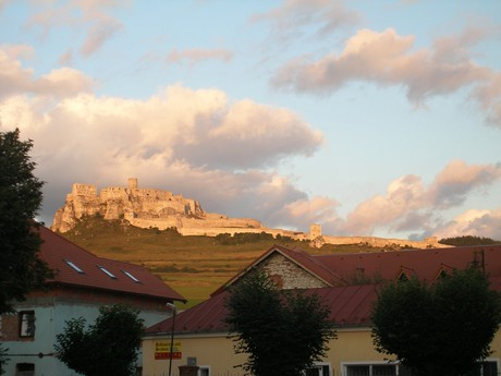 Spišské Podhradí (Spišský Castle in the background)