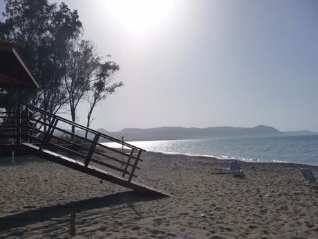 an idyllic beach below Poli Crysochous village