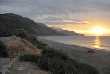 východ slunce v Paleochoře
