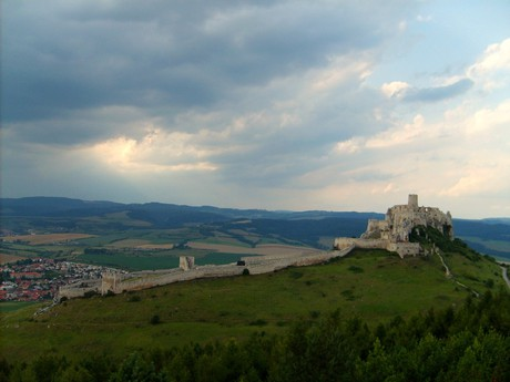 Spissky castle from Ostra Mountain