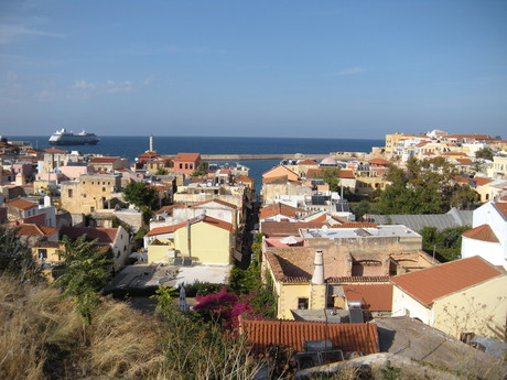 the view of Chania and the port