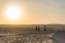 sunrise above the dunes