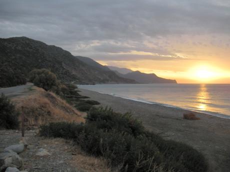 the beach near Paleochora