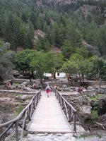 a bridge to former Samaria village
