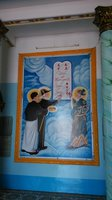 traja svätci podpisujú zmluvu s Bohom