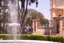 fontána v zahradě Upper Barraca