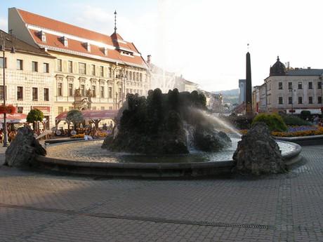 Банска-Быстрица – каменный фонтан