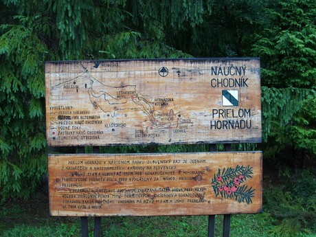 information boards – Průlom Hornádu