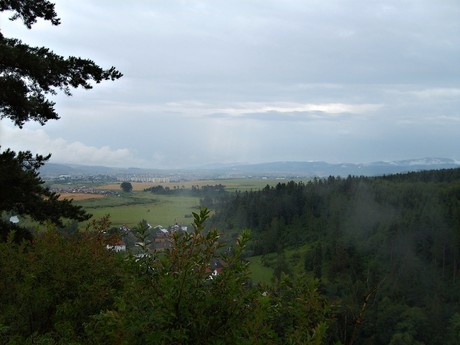 the vista from Slovensky Raj
