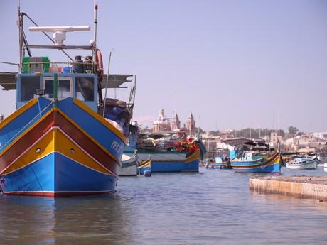 rybářská vesnice Marsaxlokk