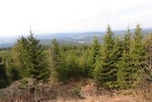 výhled na německou i českou stranu Krušných hor (Erzgebirge)