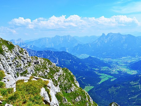 the summits of the Ennstal Alps