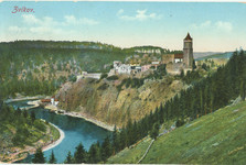 Zvikov castle on old postcard