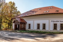 Zajezdni hostinec (traveller's inn) as you can see it today. Upon reconstruction, it operates accommodation facility, a restaurant, wellness, and electrobike rental.
