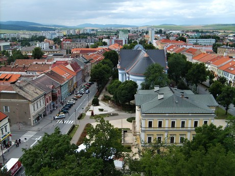 Spišská Nová Ves – a view from the top of the Assumption of the Virgin Mary church
