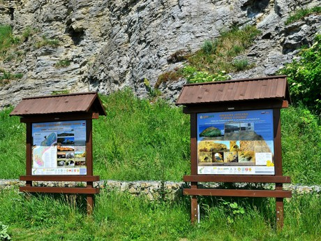 information boards belov Slovinec klippe