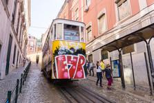 po Lisabonu se cestuje lanovkou