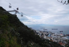 cable car going up to the Rock of Gibraltar