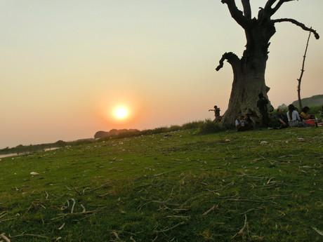 západ slunce z Amarapury