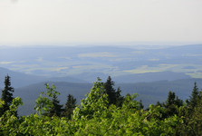 the view over the Ore Mountains