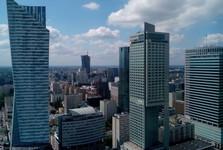 pohled na výškové budovy z Paláce kultury