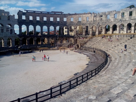 Pula – inside the Roman amphitheatre