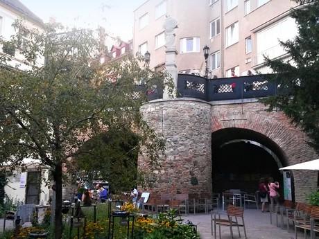 summer reading room U Cerveneho Raka, Michalska Gate (tower)
