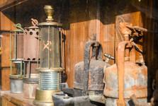 důlní vybavení u prohlídkové štoly Starý Martin