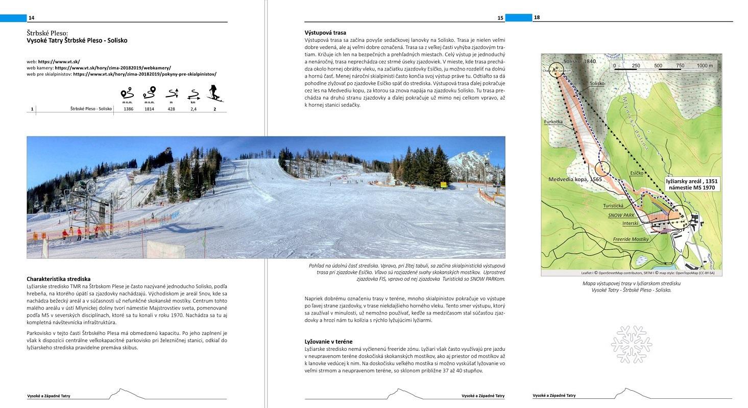 горнолыжные трассы на лыжах для ски-альпинизма – ukázka knižního průvodce