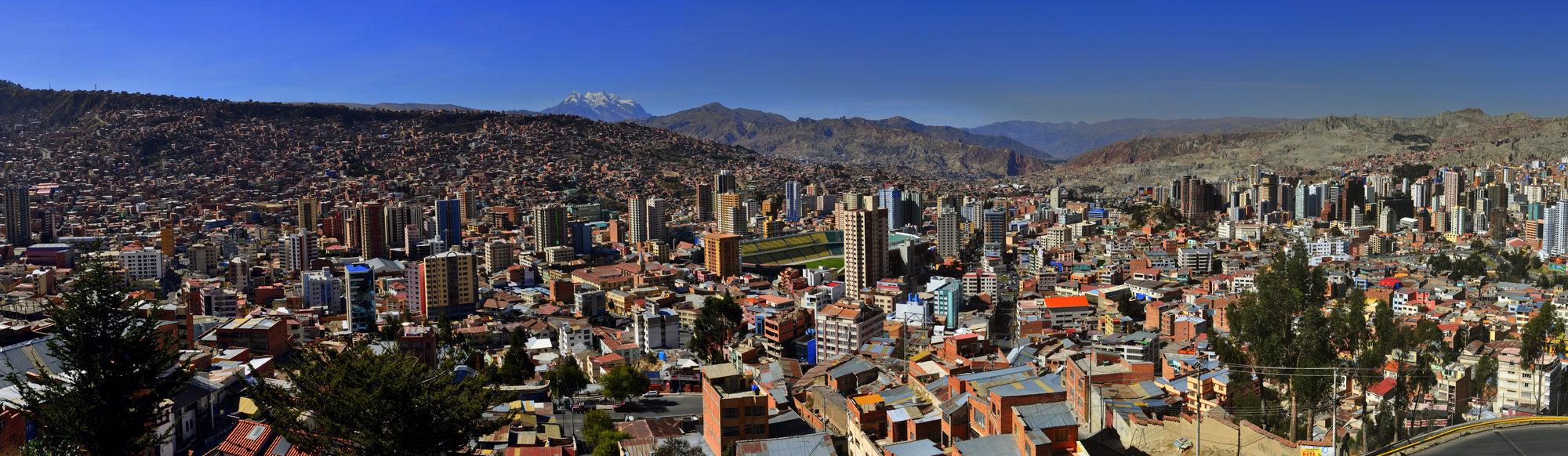 pohľad na La Paz z Killi Kill