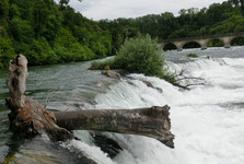 спокойное начало водопада